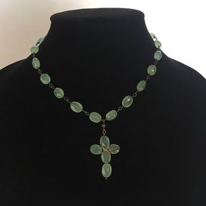 Jewelry - Semi precious stone and sterling silver cross